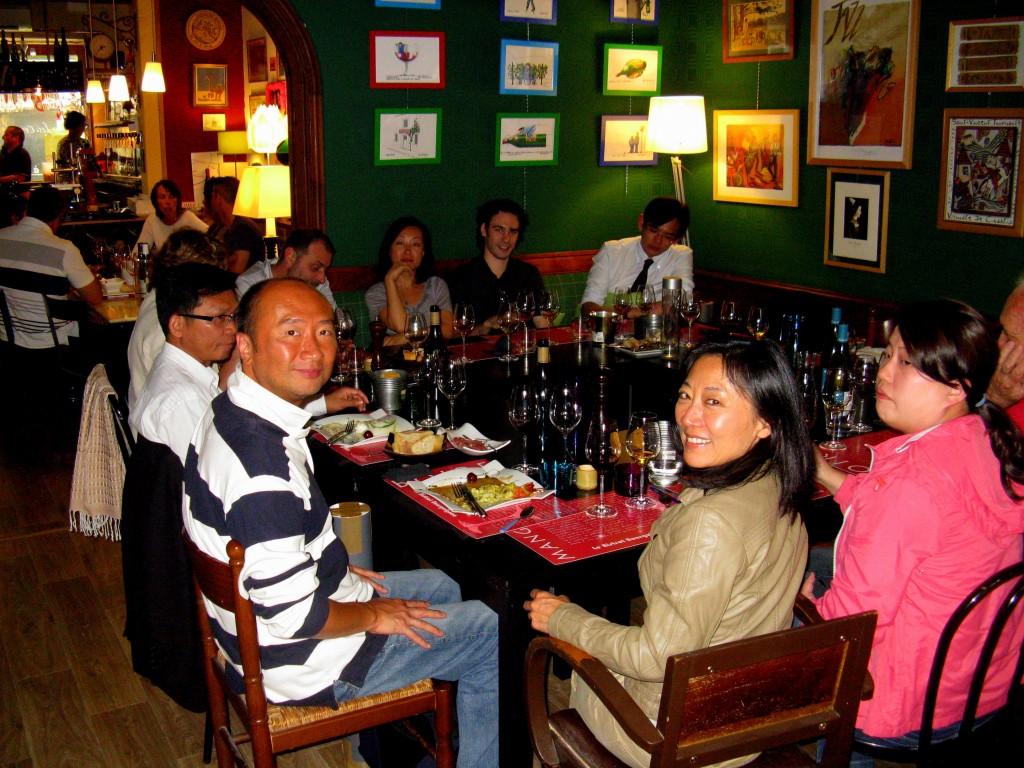"An international consortium wining and dining ""a la Bourguinonne"""
