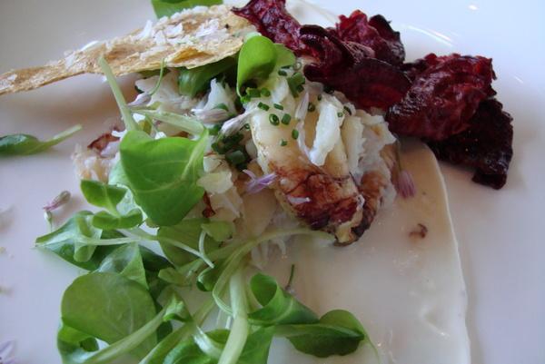 Dungeness Crab Salad at Waterbar Restaurant SF