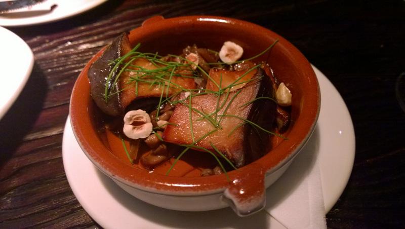 Porcini a la plancha at La Taberna
